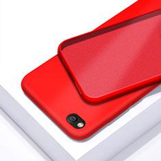 Silikon Hülle Handyhülle Ultra Dünn Schutzhülle 360 Grad Tasche für Xiaomi Redmi Go Rot