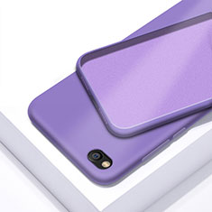 Silikon Hülle Handyhülle Ultra Dünn Schutzhülle 360 Grad Tasche für Xiaomi Redmi Go Violett