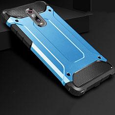 Silikon Hülle Handyhülle Ultra Dünn Schutzhülle 360 Grad Tasche für Xiaomi Redmi K20 Pro Blau