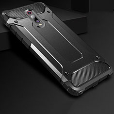 Silikon Hülle Handyhülle Ultra Dünn Schutzhülle 360 Grad Tasche für Xiaomi Redmi K20 Pro Schwarz