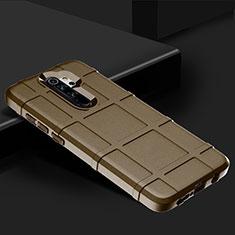 Silikon Hülle Handyhülle Ultra Dünn Schutzhülle 360 Grad Tasche für Xiaomi Redmi Note 8 Pro Braun