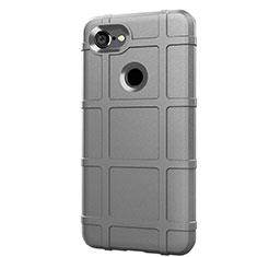 Silikon Hülle Handyhülle Ultra Dünn Schutzhülle 360 Grad Tasche S01 für Google Pixel 3 Silber