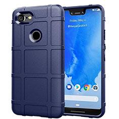 Silikon Hülle Handyhülle Ultra Dünn Schutzhülle 360 Grad Tasche S01 für Google Pixel 3 XL Blau