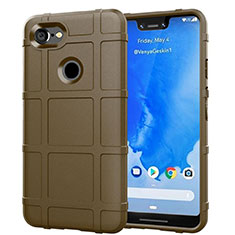 Silikon Hülle Handyhülle Ultra Dünn Schutzhülle 360 Grad Tasche S01 für Google Pixel 3 XL Braun