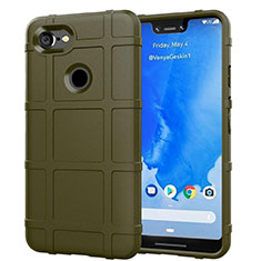 Silikon Hülle Handyhülle Ultra Dünn Schutzhülle 360 Grad Tasche S01 für Google Pixel 3 XL Grün