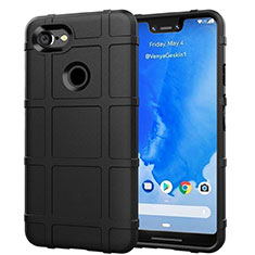 Silikon Hülle Handyhülle Ultra Dünn Schutzhülle 360 Grad Tasche S01 für Google Pixel 3 XL Schwarz