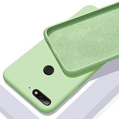 Silikon Hülle Handyhülle Ultra Dünn Schutzhülle 360 Grad Tasche S01 für Huawei Enjoy 8e Grün
