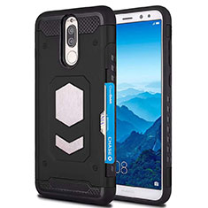 Silikon Hülle Handyhülle Ultra Dünn Schutzhülle 360 Grad Tasche S01 für Huawei Mate 10 Lite Schwarz