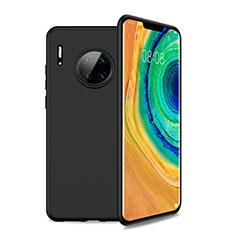 Silikon Hülle Handyhülle Ultra Dünn Schutzhülle 360 Grad Tasche S01 für Huawei Mate 30 5G Schwarz