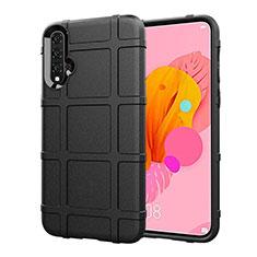 Silikon Hülle Handyhülle Ultra Dünn Schutzhülle 360 Grad Tasche S01 für Huawei Nova 5 Schwarz
