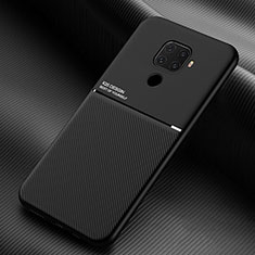 Silikon Hülle Handyhülle Ultra Dünn Schutzhülle 360 Grad Tasche S01 für Huawei Nova 5z Schwarz