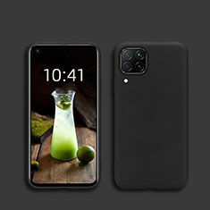 Silikon Hülle Handyhülle Ultra Dünn Schutzhülle 360 Grad Tasche S01 für Huawei Nova 6 SE Schwarz