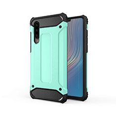 Silikon Hülle Handyhülle Ultra Dünn Schutzhülle 360 Grad Tasche S01 für Huawei P30 Grün