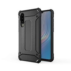 Silikon Hülle Handyhülle Ultra Dünn Schutzhülle 360 Grad Tasche S01 für Huawei P30 Schwarz