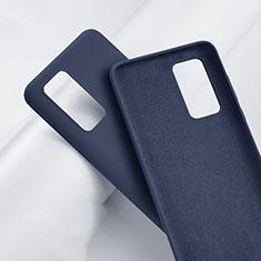 Silikon Hülle Handyhülle Ultra Dünn Schutzhülle 360 Grad Tasche S01 für Huawei P40 Pro+ Plus Blau