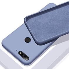Silikon Hülle Handyhülle Ultra Dünn Schutzhülle 360 Grad Tasche S01 für Huawei Y6 (2018) Blau