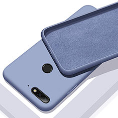 Silikon Hülle Handyhülle Ultra Dünn Schutzhülle 360 Grad Tasche S01 für Huawei Y6 Prime (2018) Blau