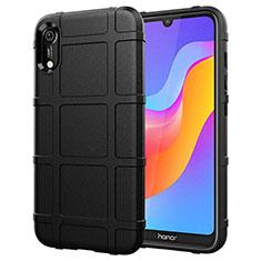 Silikon Hülle Handyhülle Ultra Dünn Schutzhülle 360 Grad Tasche S01 für Huawei Y6 Prime (2019) Schwarz
