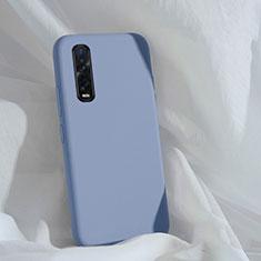 Silikon Hülle Handyhülle Ultra Dünn Schutzhülle 360 Grad Tasche S01 für Oppo Find X2 Pro Grau
