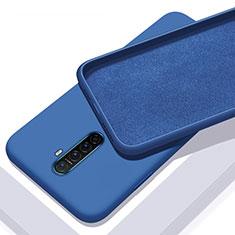 Silikon Hülle Handyhülle Ultra Dünn Schutzhülle 360 Grad Tasche S01 für Oppo Reno Ace Blau