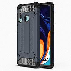 Silikon Hülle Handyhülle Ultra Dünn Schutzhülle 360 Grad Tasche S01 für Samsung Galaxy A60 Blau