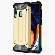 Silikon Hülle Handyhülle Ultra Dünn Schutzhülle 360 Grad Tasche S01 für Samsung Galaxy A60 Gold