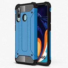 Silikon Hülle Handyhülle Ultra Dünn Schutzhülle 360 Grad Tasche S01 für Samsung Galaxy A60 Hellblau