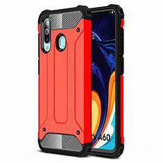 Silikon Hülle Handyhülle Ultra Dünn Schutzhülle 360 Grad Tasche S01 für Samsung Galaxy A60 Rot