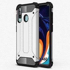 Silikon Hülle Handyhülle Ultra Dünn Schutzhülle 360 Grad Tasche S01 für Samsung Galaxy A60 Silber