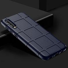 Silikon Hülle Handyhülle Ultra Dünn Schutzhülle 360 Grad Tasche S01 für Samsung Galaxy A70 Blau