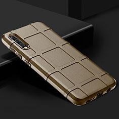Silikon Hülle Handyhülle Ultra Dünn Schutzhülle 360 Grad Tasche S01 für Samsung Galaxy A70 Gold