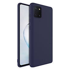 Silikon Hülle Handyhülle Ultra Dünn Schutzhülle 360 Grad Tasche S01 für Samsung Galaxy A81 Blau