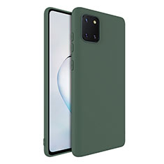 Silikon Hülle Handyhülle Ultra Dünn Schutzhülle 360 Grad Tasche S01 für Samsung Galaxy A81 Grün