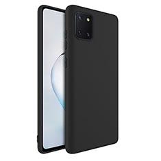 Silikon Hülle Handyhülle Ultra Dünn Schutzhülle 360 Grad Tasche S01 für Samsung Galaxy A81 Schwarz