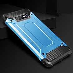 Silikon Hülle Handyhülle Ultra Dünn Schutzhülle 360 Grad Tasche S01 für Samsung Galaxy S10e Blau