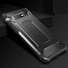 Silikon Hülle Handyhülle Ultra Dünn Schutzhülle 360 Grad Tasche S01 für Samsung Galaxy S10e Schwarz