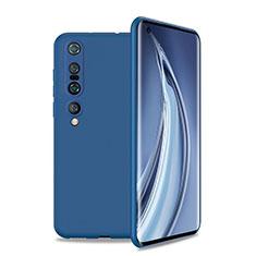 Silikon Hülle Handyhülle Ultra Dünn Schutzhülle 360 Grad Tasche S01 für Xiaomi Mi 10 Pro Blau