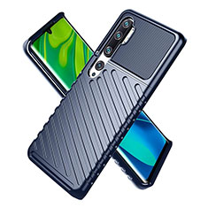 Silikon Hülle Handyhülle Ultra Dünn Schutzhülle 360 Grad Tasche S01 für Xiaomi Mi Note 10 Blau