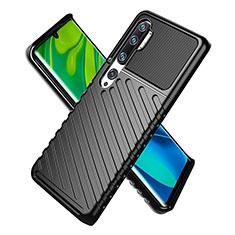 Silikon Hülle Handyhülle Ultra Dünn Schutzhülle 360 Grad Tasche S01 für Xiaomi Mi Note 10 Schwarz