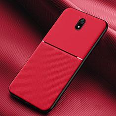 Silikon Hülle Handyhülle Ultra Dünn Schutzhülle 360 Grad Tasche S01 für Xiaomi Redmi 8A Rot