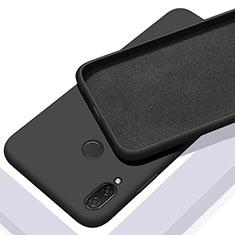 Silikon Hülle Handyhülle Ultra Dünn Schutzhülle 360 Grad Tasche S01 für Xiaomi Redmi Note 7 Pro Schwarz