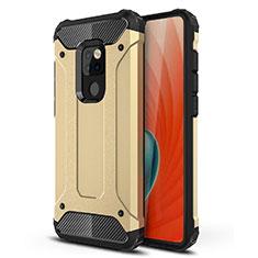Silikon Hülle Handyhülle Ultra Dünn Schutzhülle 360 Grad Tasche S02 für Huawei Mate 20 Gold