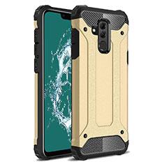 Silikon Hülle Handyhülle Ultra Dünn Schutzhülle 360 Grad Tasche S02 für Huawei Mate 20 Lite Gold