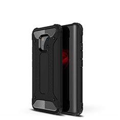 Silikon Hülle Handyhülle Ultra Dünn Schutzhülle 360 Grad Tasche S02 für Huawei Mate 20 Pro Schwarz