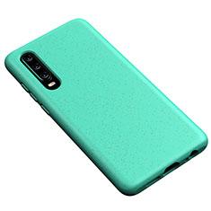 Silikon Hülle Handyhülle Ultra Dünn Schutzhülle 360 Grad Tasche S02 für Huawei P30 Cyan