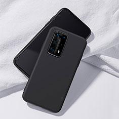 Silikon Hülle Handyhülle Ultra Dünn Schutzhülle 360 Grad Tasche S02 für Huawei P40 Pro+ Plus Schwarz