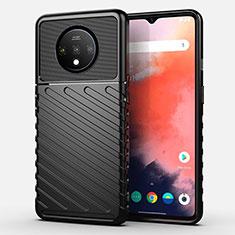 Silikon Hülle Handyhülle Ultra Dünn Schutzhülle 360 Grad Tasche S02 für OnePlus 7T Schwarz
