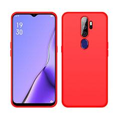 Silikon Hülle Handyhülle Ultra Dünn Schutzhülle 360 Grad Tasche S02 für Oppo A11 Rot