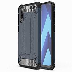 Silikon Hülle Handyhülle Ultra Dünn Schutzhülle 360 Grad Tasche S02 für Samsung Galaxy A70 Blau