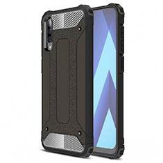 Silikon Hülle Handyhülle Ultra Dünn Schutzhülle 360 Grad Tasche S02 für Samsung Galaxy A70 Schwarz